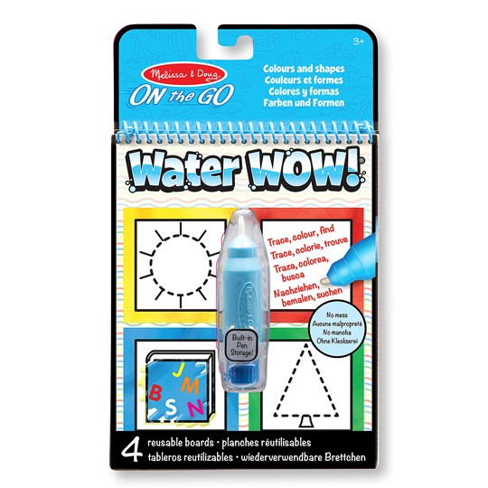 Melissa & Doug Water Wow! Magic Coloring Book - Colors and Shapes Blue