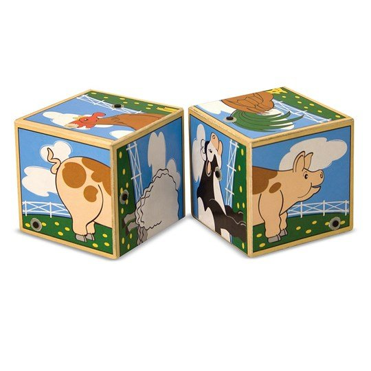 Melissa & Doug Farm Sound Blocks Red