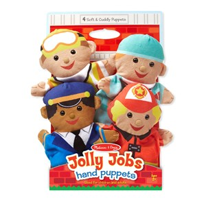 Image of Melissa & Doug Jolly Helpers Hand Puppets 24 months - 5 years (3125263647)