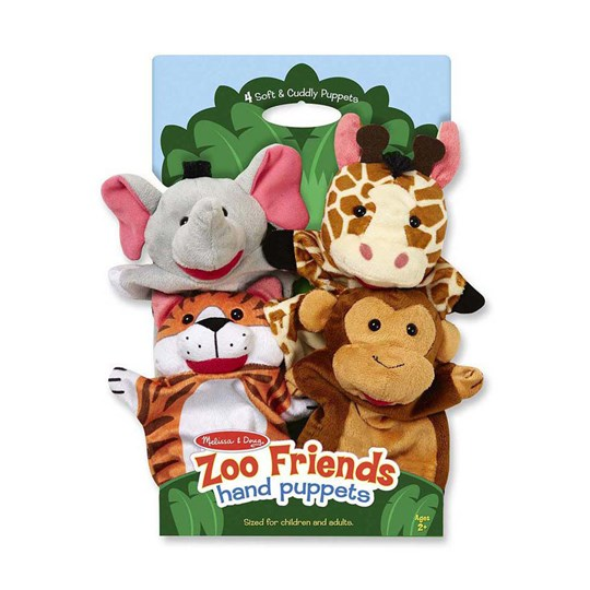 Melissa & Doug Zoo Friends Hand Puppets Beige