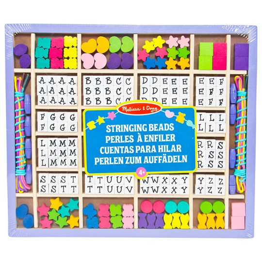 Melissa & Doug Melissa & Doug, Wooden Stringing Beads Multi