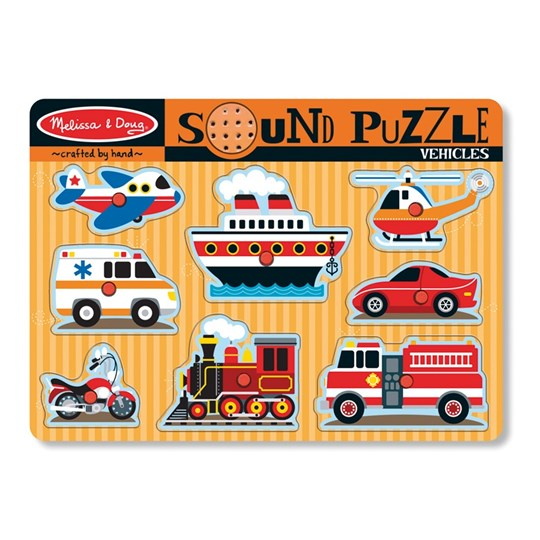 Melissa & Doug Sound Puzzle - Vehicles Multi
