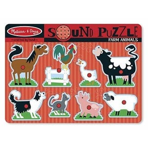 Image of Melissa & Doug Sound Puzzle - Farm Animals 24 months - 12 years (985020)
