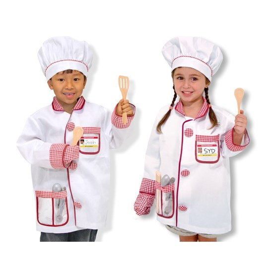 Melissa & Doug Chef Role Play Costume Set Multi