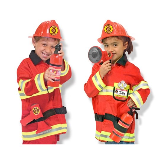 Melissa & Doug Fire Chief Role Play Costume Set Multi
