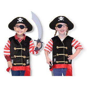 Image of Melissa & Doug Pirate Role Play Costume Set 3 - 6 år (3125341233)