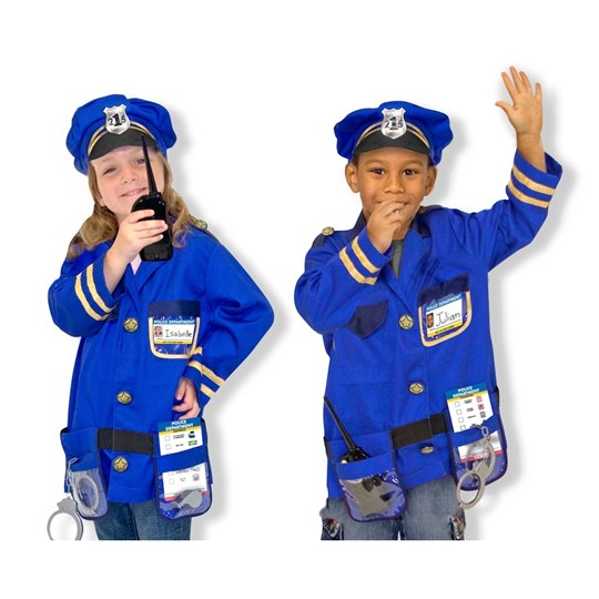 Melissa & Doug Police Officer Role Play Costume Set Multi