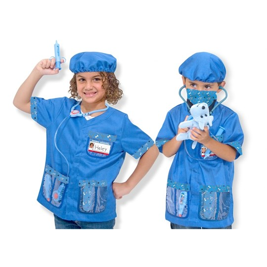 Melissa & Doug Veterinarian Role Play Costume Set Multi