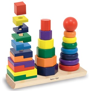 Image of Melissa & Doug Geometric Stacker 24 mdr. - 4 år (3125341243)