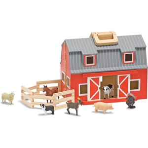Image of Melissa & Doug Wooden Fold & Go Barn 3 - 8 years (3125341235)