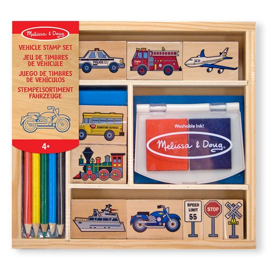 Melissa & Doug Vehicle Stamp Set Multi