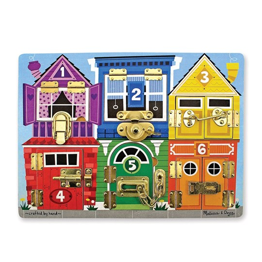 Melissa & Doug Wooden Latches Board Multi