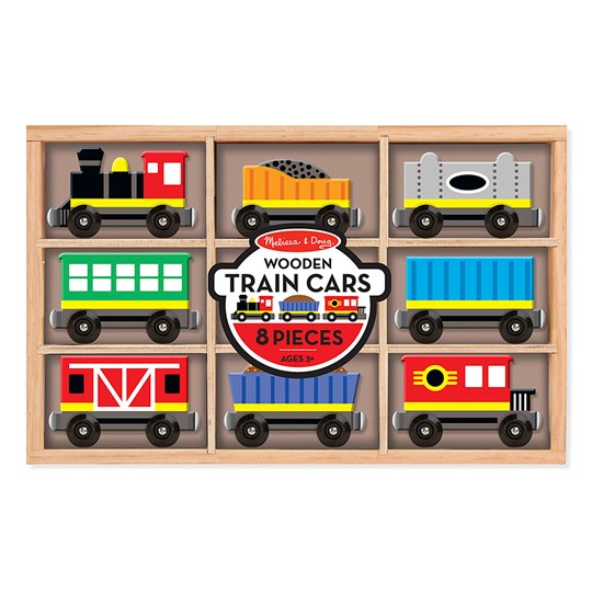 Melissa & Doug Train Cars Multi