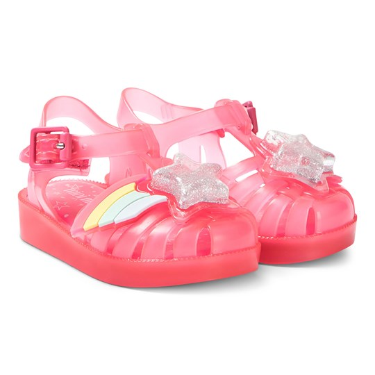 Mini Melissa Bright Pink Rainbow Sprite Jelly Sandal 6376