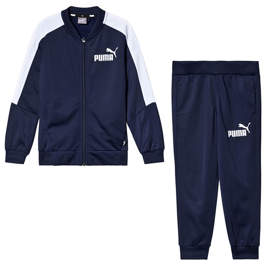 Puma Navy Branded Baseball Collar Tracksuit peacoat