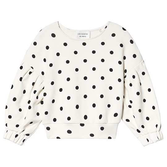 Les Coyotes De Paris Reggie Sweatshirt Cream All-Over Dot