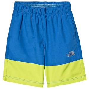 Image of The North Face Blue and Lime Colorblock Swim Shorts L (14-16 years) (3139762039)