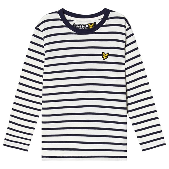 Lyle & Scott Navy Breton Stripe Long Sleeve Tee 295