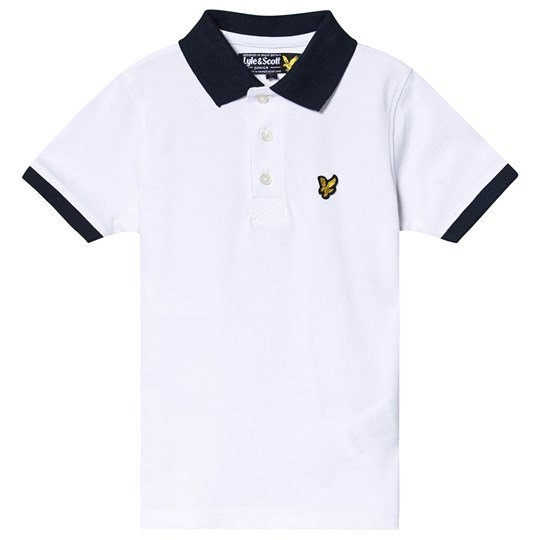 Lyle & Scott White Ringer Polo Shirt 002