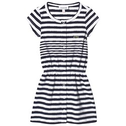 Lacoste Navy and White Stripe Dress