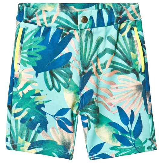Billybandit Green Tropical Shorts Color Description