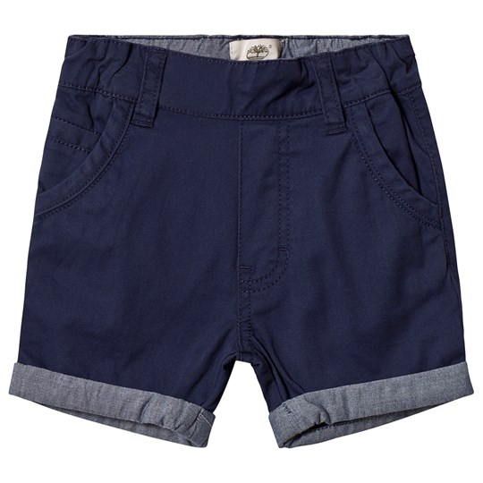 Timberland Navy Turn Up Chino Shorts 85T