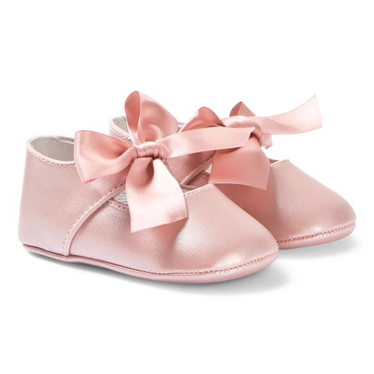 Mayoral Bow Crib Shoes Pink 35