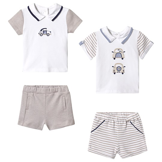 5a29caa21 Mayoral - 2-Pack Polo and Shorts Set White Beige - Babyshop.com