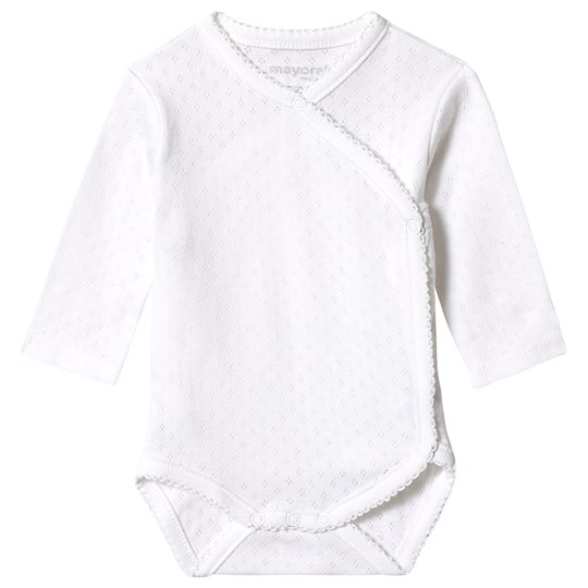 Mayoral Pointelle Baby Body White 70
