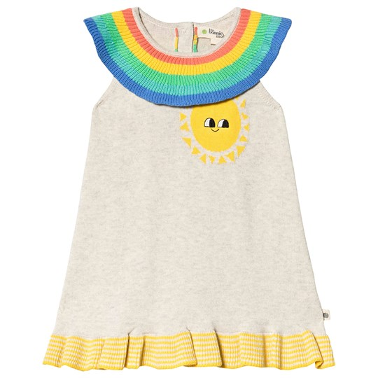 The Bonnie Mob Rainbow Knitted Dress Putty Putty