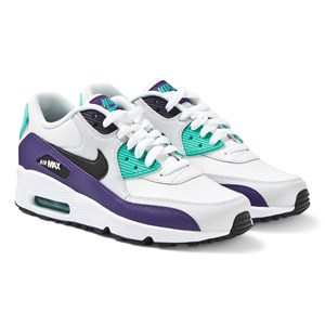 Image of NIKE Air Max 90 Sneakers White and Black-Hyper Jade 35.5 (UK 3) (3125301175)