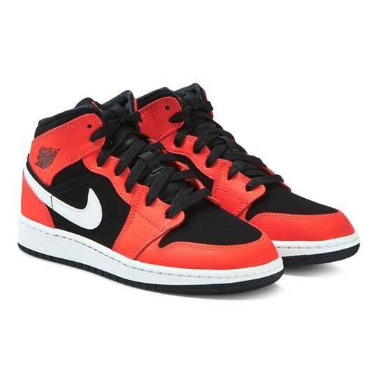 Air Jordan Red and Black Air Jordan Full-Court Hi Tops 061