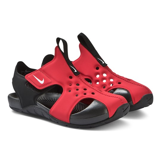NIKE Red and Black Nike Sunray Protect 2 Sandals 601