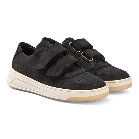Acne Studios Steffey Nubuck Sneakers Black and White Black