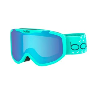 Image of Bollé Rocket Plus Ski Goggles Matte Mint & White/Aurora Lens Small (6+ years) (3125323613)