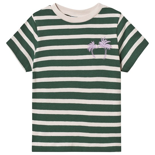 Wynken Green and Cream Stripe Palm Tree T-shirt PALM STRIPE