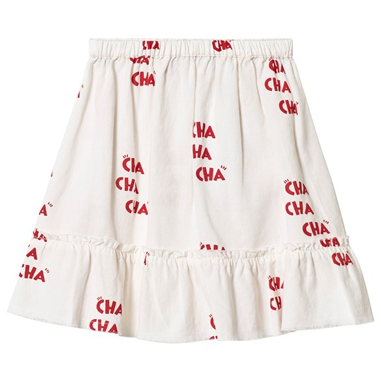 Wynken White All Over Red Cha Skirt STONE / RED