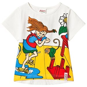 Image of Pippi Långstrump Pippi Cleaning Day T-Shirt White 110 cm (4-5 år) (3135225637)