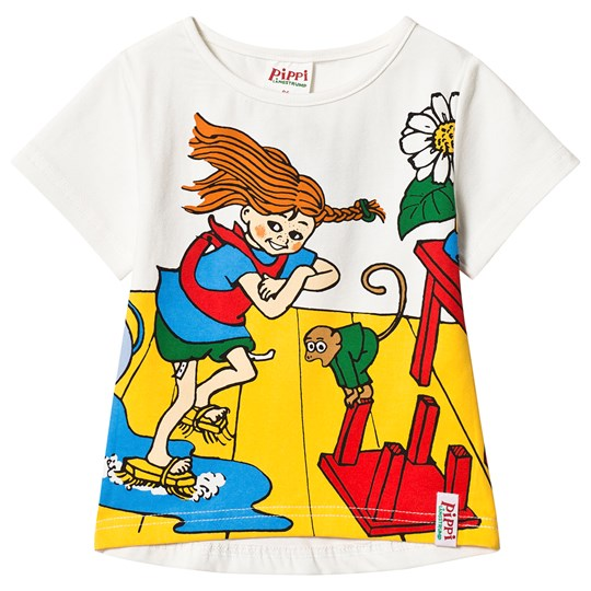 Pippi Långstrump Pippi Cleaning Day T-Shirt White Hvid