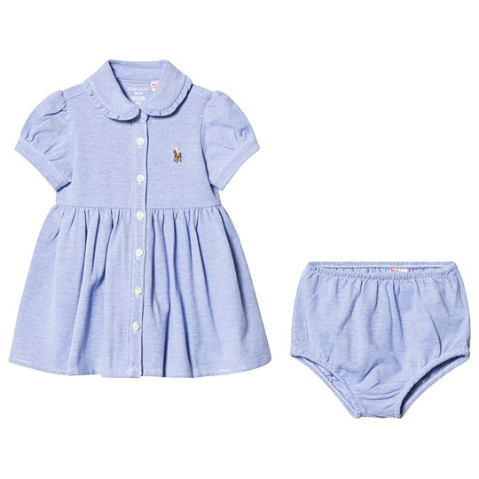 Ralph Lauren Blue Oxford Mesh Dress with Small PP 002