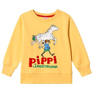 Image of Pippi Långstrump Pippi Sweater Yellow 116 cm (5-6 år) (3135225693)
