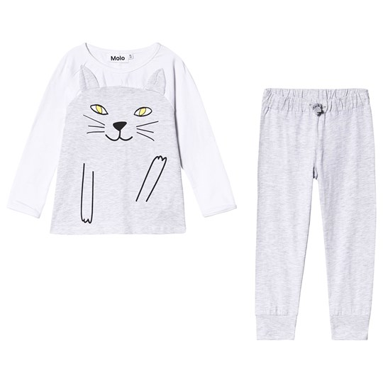 Molo Lilcat Pyjamas Light Grey Melange Light Grey Melange