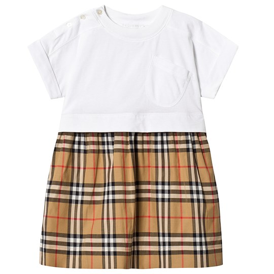 Burberry Vintage Check Ruby Dress White A1464
