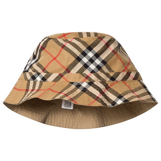 Burberry Vintage Check Bucket Hat Beige A2219