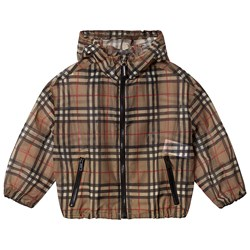 Burberry Vintage Check Lorenzo Hooded Coat Beige
