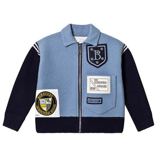 Burberry Patch Willson Branded Jacket Blue A2167