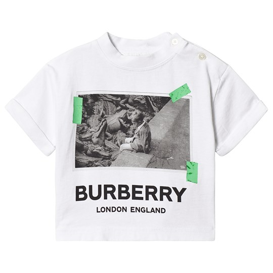 Burberry White Burberry Alligator Print Tee A1464