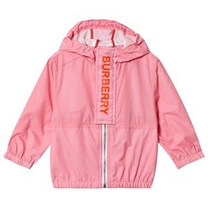 Image of Burberry Austin Branded Hooded Coat Pink 12 months (3125348827)