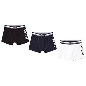 Image of BOSS 3 Pack of Black, Blue and White Branded Boxers 10 years (3125285113)
