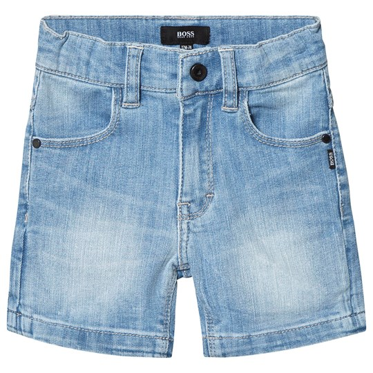 BOSS Blue Light Wash Denim Shorts Z25